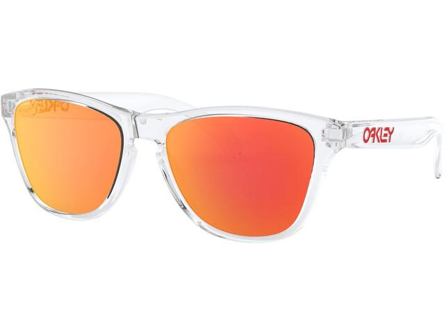 Oakley Frogskins XS Zonnebril Jongeren, polished clear/prizm ruby